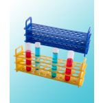 TEST TUBE RACK, RPP, 25 MM, 18 PLACES,  2 x 4 per box,  Catalog number: P20704