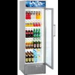 FKDv 3713-21,     Réfrigérateur Display avec éclairage LED, 368L brut, porte vitrée à clé, LED, ARGENTE, H = 199,6cm