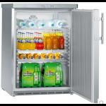 FKUv 1660-22,     Réfrigérateur encastrable sous plan avec froid ventilé, 141L brut, porte pleine à clé, Acier Inox, H = 83cm