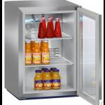 FKv 503-20,     Réfrigérateur de comptoir, 45L brut, porte vitrée à clé, Acier Inox, H = 61,5cm