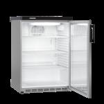 FKvesf 1803-20,     Réfrigérateur encastrable sous plan avec froid ventilé, 180L brut, porte vitrée à clé, blanc, H = 85cm, Façade Acier Inox