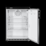 FKvesf 1805-20,     Réfrigérateur encastrable sous plan avec froid ventilé, 180L brut, porte pleine à clé, blanc, H = 85cm, Façade Acier Inox