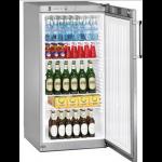 FKvsl 2610-21,     Réfrigérateurs universels – 60 cm de large, 236L brut, porte pleine à clé,  ARGENTE, H = 125cm