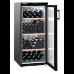 WKb 3212-20,    Wine cellar 309L net, +/- 164 bouteilles, 60cm, H=135cm, A, noir