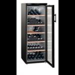 WKb 4212-20,    Wine cellar 395L net, +/- 200 bouteilles, 60cm, H=165cm, A, noir