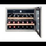 WKEes 553-20,    Wine cabinet built-in 45cm, 46L net, +/- 18 bouteilles, 1 température, A, porte vitrée / inox