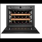 WKEgb 582-20,    Wine cabinet built-in 45cm, 46L net, +/- 18 bouteilles, 1 température, A+, porte vitrée noire, TipOpen
