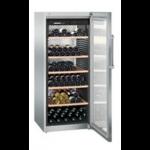 WKes 4552-21,    Wine cellar 435L net, +/- 201 bouteilles, 70cm, H=165cm, A+, acier inox