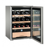 WKes 653-21,    Wine cellar 38L net, +/- 12 bouteilles, LxH : 43 x 61cm, A++, acier inox