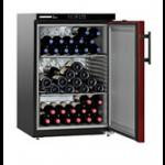 WKr 1811-21,    Wine cellar 128L net, +/- 66 bouteilles, 60cm, H=89cm, A+, noir/rouge