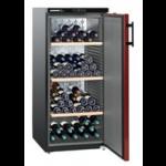 WKr 3211-21,    Wine cellar 295L net, +/- 164 bouteilles, 60cm, H=135cm, A++, noir/rouge