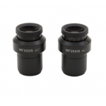 WF 25x9 eyepieces (pair), high eyepoint, focusable, with rubber cup