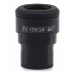 WF 10x/24 eyepiece, high eyepoint, focusable, with rubber cup