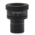 WF10x/23 eyepieces (pair), high eyepoint, focusable, with rubber cup