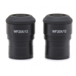 WF 20x/12 eyepieces (pair), high eyepoint, focusable, with rubber cup