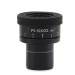 WF 10x/23 micrometric eyepieces, high eyepoint, focusable, rubber cup