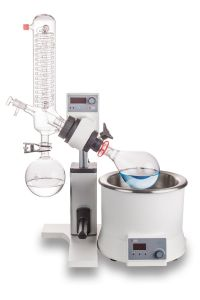 RE100-S 1700cm²package:  Rotary Evaporator with set of glassware vertical  include 18900165 condenser (1700cm²,1000ml) and LED heating bath 18101888 (package seperately) catalog number 6030120211 + 18900165