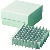 PL14,  Cardboard µCryobox  water resistant, 130 x 130 x 50 mm with 9 x 9 grid divider, for 1.2 - 2 ml cryotubes, 1 box